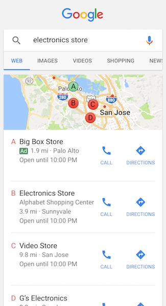 ローカル検索広告(スマートフォン)